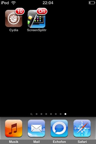 aktiviertes Screensplitr