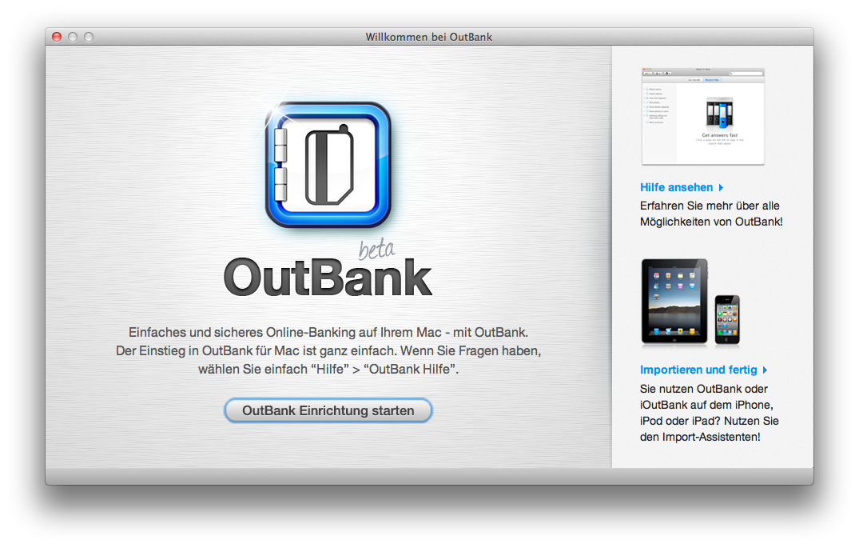 Willkommen bei OutBank