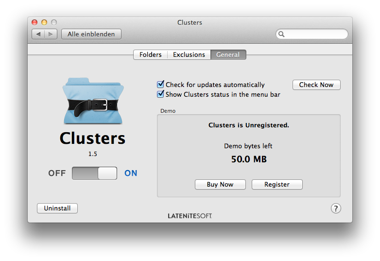 Clusters Demoversion