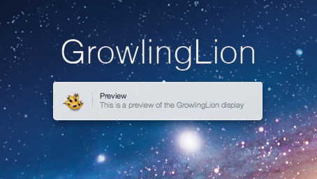 GrowlingLion – ein helles, schlichtes Growl-Theme